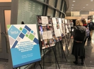 Image of posters at research event